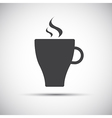 Simple cup of coffee icon vector image