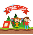 sports camp vector image