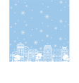 street in winter vector image