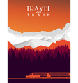 Travel with train background vector image