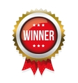 Winner red badge vector image