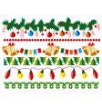 Christmas border elements vector image vector image