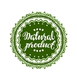 Natural Product label or sticker vector image