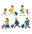 funny air passengers set vector image