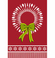 Cutlery wreath christmas background vector image
