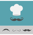 hat mustache big set vector image