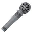 flat stage microphone vector image vector image