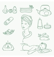 Spa doodle hand drawn sketch icons set with vector image vector image