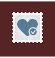 Heart medical stamp vector image