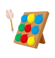 Balloons dart game cartoon icon vector image