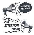 attention please symbols with voice vector image
