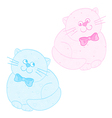 cats pink blue vector image