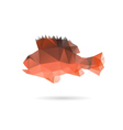 Fish abstract isolated on a white backgrounds vector image
