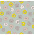floral pattern with colorful blooming flowers on vector image