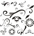Floral shapes and ornaments vector image