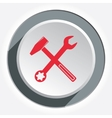 Hammer and wrench icon Repair tool symbol Red vector image