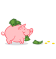 Pig money vector image