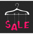 Hanger with SALE word Fashion sale concept vector image