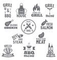 Bbq grill label vector image