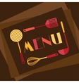 Restaurant menu background in flat design style vector image vector image