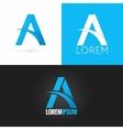letter A logo design icon set background vector image