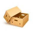 Empty cardboard box tare for vector image vector image