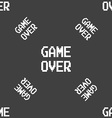 Game over concept icon sign Seamless pattern on a vector image