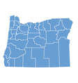 State map of Oregon by counties vector image vector image