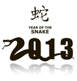 New Year Snake 2013 vector image