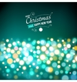 New year lights background vector image