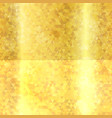 gold triangles seamless texture vector image