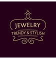 logo for jewelry salon Luxury and elegance vector image