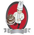 Pastry chef vector image