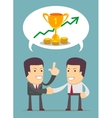Successful partnership vector image