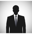 Unknown person silhouette whith tie vector image