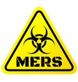 Warning sign of Mers virus vector image