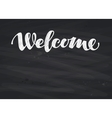 Welcome inscription calligraphy Hand drawn vector image