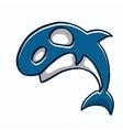 Dolphin sea animal cartoon vector image