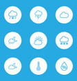 meteorology outlines set collection of lightning vector image