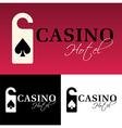 Hotel casino logo vector image vector image
