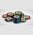 playing casino chips vector image vector image