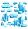broken pieces of ice game design vector image