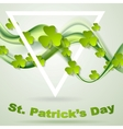 Green smooth waves and clovers shamrocks vector image vector image