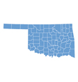 State map of Oklahoma by counties vector image