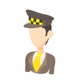 Taxi driver icon in cartoon style vector image vector image