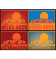 Ayers Rock Posters vector image