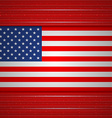 Background of American flag vector image