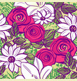 ink hand drawn floral seamless pattern vector image