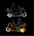 Motorbike with a person wearing helmet vector image