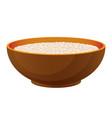 porridge with milk healthy organic breakfast in vector image